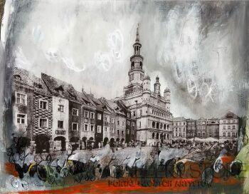 Dagmara Kwiatek-Kamińska-Poznań i rowery-Technika mieszana