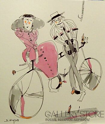 Dariusz Grajek-Bicykl i akordeon....-Gwasz