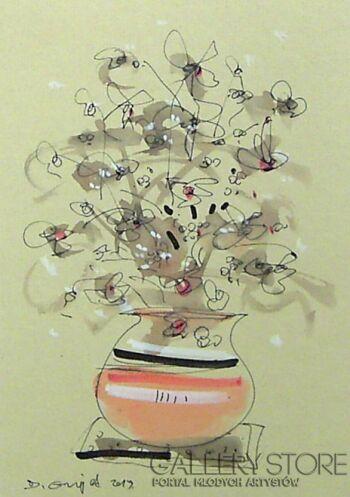 Dariusz Grajek-Kwiaty w wazonie....-Gwasz
