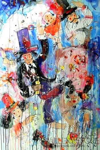 Dariusz Grajek-Marionetki....-Akryl