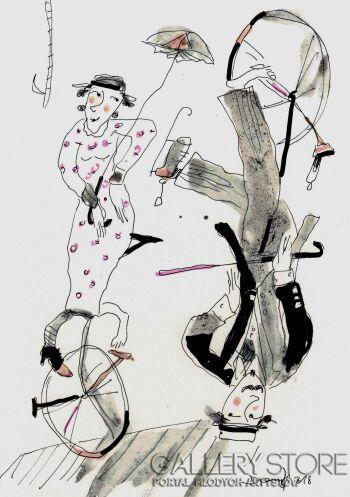 Dariusz Grajek-Para na monocyklach....-Gwasz