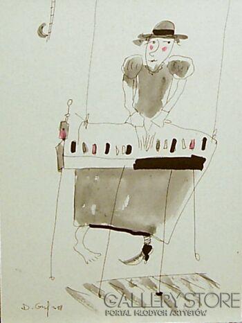 Dariusz Grajek-Pianistka....-Grafika