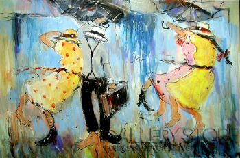 Dariusz Grajek-Pod parasolkami......-Akryl