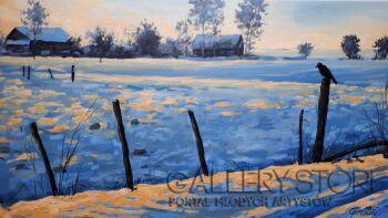 Dariusz Gumowski-Oczekiwanie - zima-Olej