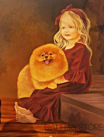 Darya Matsiaichuk-dziewczyna ze szpicem-Akryl