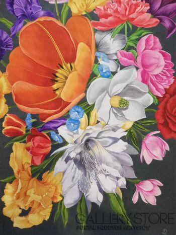 Darya Matsiaichuk-Сzas kwitnienia-Akryl