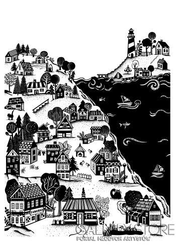 Dominika Wilk-Portowy krajobraz-Grafika