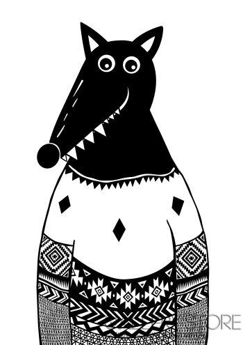 Dominika Wilk-Wilk w swetrze-Grafika