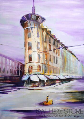Edward Karczmarski-Pejzaż miejski z Genewy-Olej