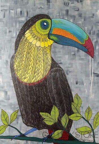 Edyta Tobiasz-Tukanos - obraz akrylowy na płótnie 100x70 cm-Akryl