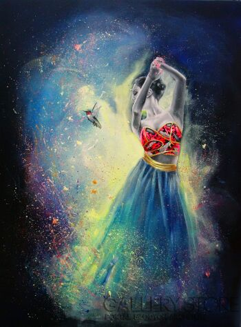 Tańcząca z kolibrem