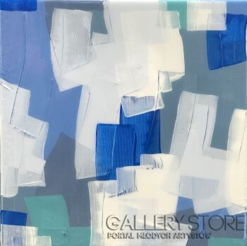 Ewa Jaros-Blue cotton candy-Akryl