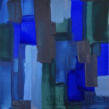 Ewa Jaros-Deep Blue Sea-Akryl