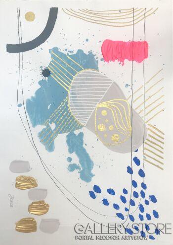 Ewa Jaros-Study 3-Technika mieszana