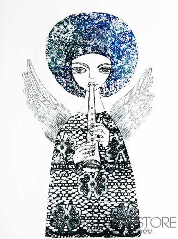 Ewa Narloch-Kerszka-Anioł Afro-Grafika