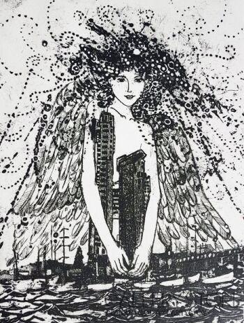 Ewa Narloch-Kerszka-Anioł nad moim miastem-Grafika