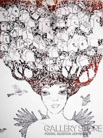 Ewa Narloch-Kerszka-Cały dom na głowie-Grafika