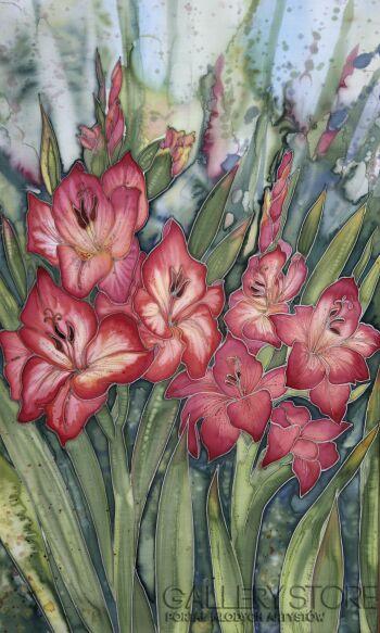 Ewa Narloch-Kerszka-Gladiole-kwiaty-Inna