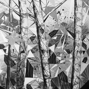 Filip Warzecha-Domek w lesie-Akryl