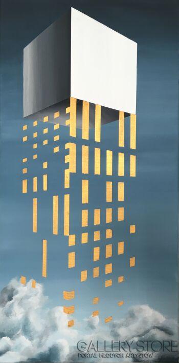 Filip Warzecha-Złoty deszcz-Akryl