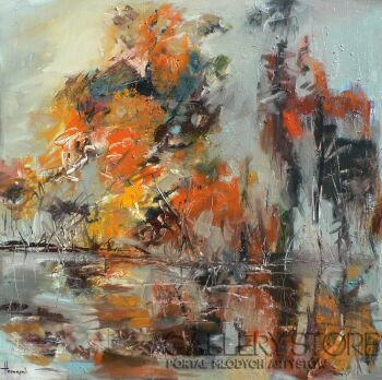 Henadzy Havartsou-Jesień w wiosce-Olej