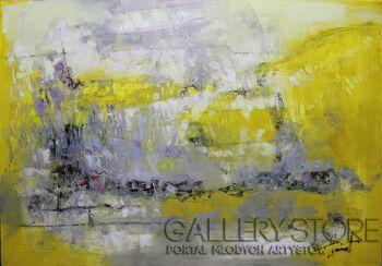 Henadzy Havartsou-Żółty Nokturn-Olej