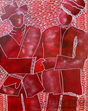 Iwona Molecka-Coats red-Akryl