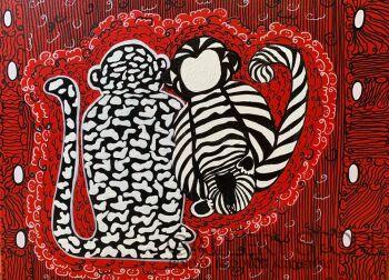 Iwona Molecka-Something with monkeys 1-Akryl