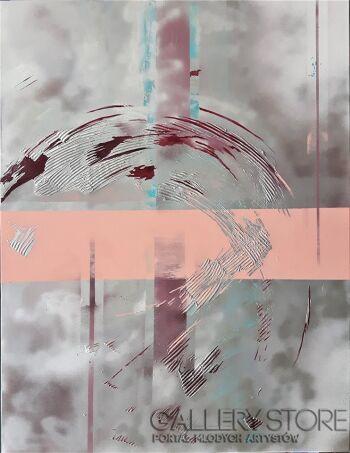 Iza Kostiukow-Obraz pozorny-Akryl