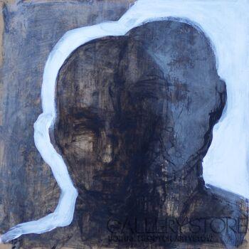 Izabela Wolska-autoportret podwójny-Olej