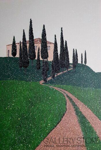 Jacek Malinowski-Paesaggio Toscano-Akryl
