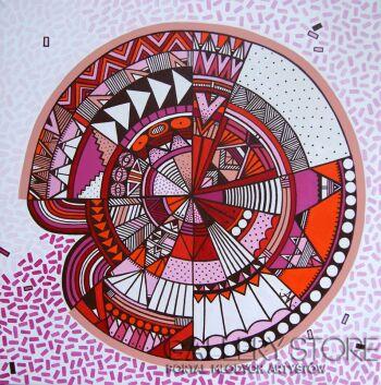 Jagoda Dziewanowska-Pink Point-Olej