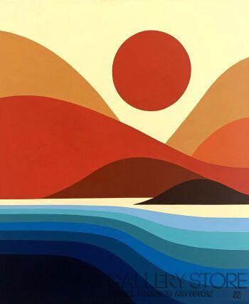 Jagoda Dziewanowska-Sunset-Akryl