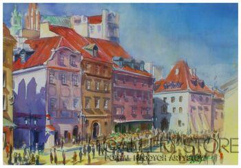 Jarek Drążek-Warszawa Stare Miasto-Akwarela