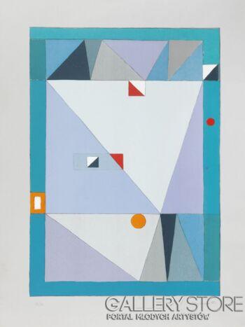 Jerzy  Nowosielski-ABSTRAKCJA, 1997-Serigrafia