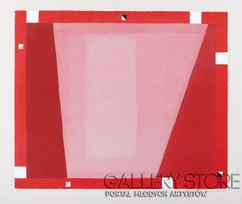 Jerzy  Nowosielski-ABSTRAKCJA CZERWONA, 1995-Serigrafia
