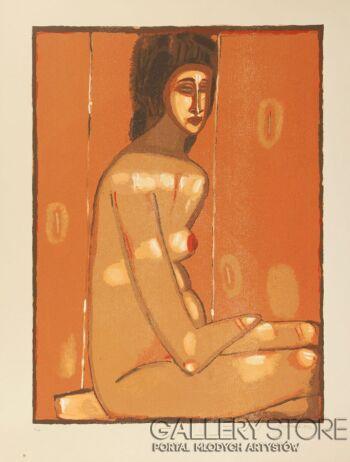 Jerzy  Nowosielski-AKT, 1997-Serigrafia
