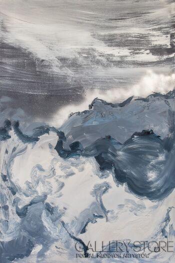 Joanna Pyrskała-Head in the clouds-Akryl