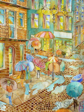 Joanna Rzeźnik-Letnie spacery w deszczu-Akwarela
