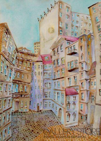 Joanna Rzeźnik-Ulice dużych miast-Akwarela