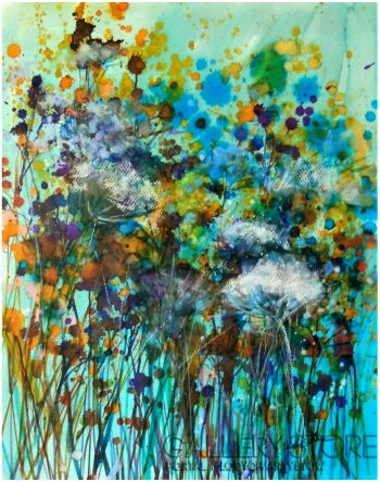 Joanna Sadecka-Emanacje-turquoise-Akwarela