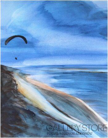 Joanna Sadecka-Lot nad Dune-Akwarela