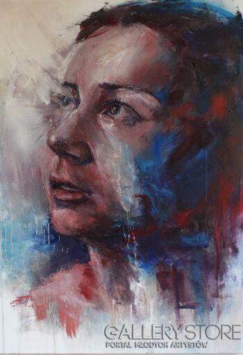 "Joanna Sokolowska-From ""Beyond"" series - ""Through""-Olej"