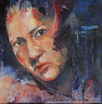 """Joanna Sokolowska-z serii """"Portrety"""" 1-Olej"""