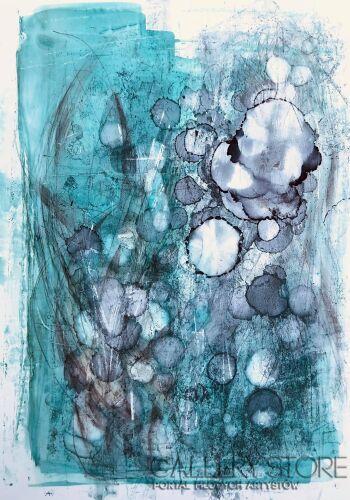 Joanna Wietrzycka-In the maze of gray thoughts-Technika mieszana