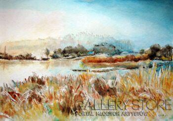 Jola Smarż-Jesienne trawy-Akwarela