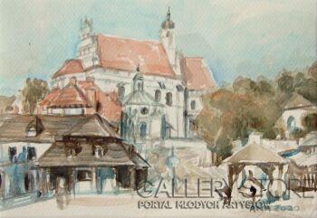 Jola Smarż-Kazimierz Dolny nad Wisłą-Akwarela