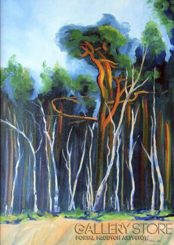 Jolanta Kitowska-Taniec drzew 3-Olej