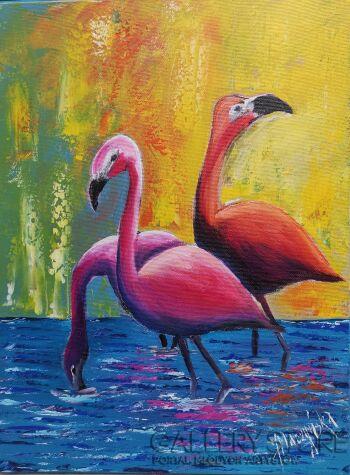 Jolanta Placzyńska-Flamingi-Akryl