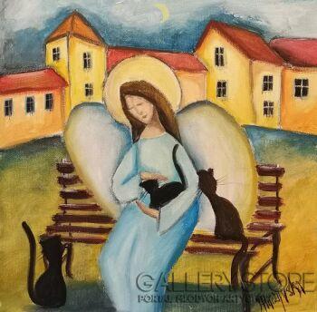 Jolanta Placzyńska-Trzy Kociaki-Akryl